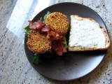 Fried Green Tomato BLTs with Spicy Buttermilk RanchSpread