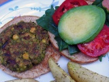 Meatless Monday: Pesto Chickpea Burgers