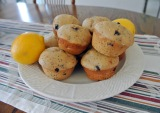 Skinny Lemon Blueberry Poppyseed Muffins