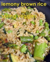 Lemony Brown Rice with Spring Veggies