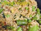 Lemony Brown Rice with SpringVeggies